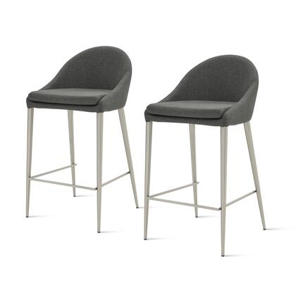 448527-NS-BS Zane Fabric Counter Stool Set of 2  in Night