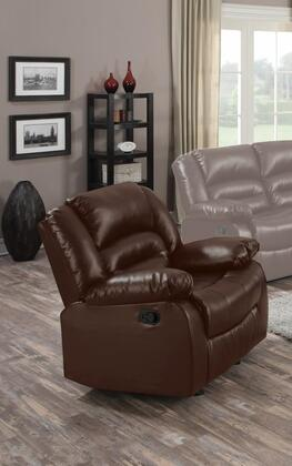 Myco Furniture Branson 1037CBR Recliner Chair Brown, Recliner