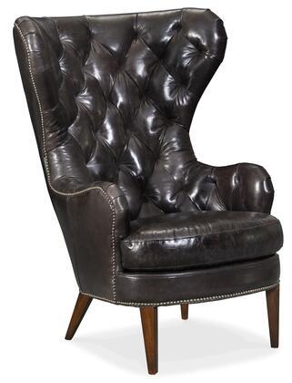 Hooker Furniture CC Series CC483098 Living Room Chair Black, Silo Image