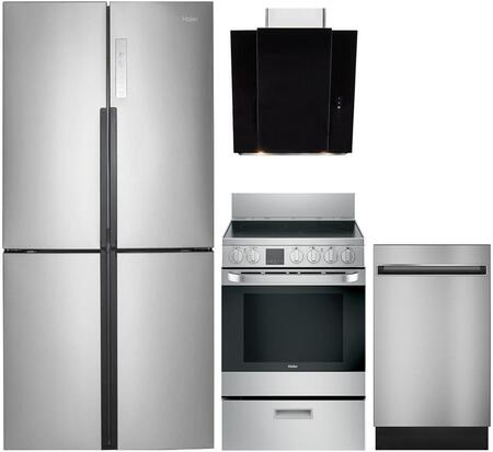 Haier 743563 Kitchen Appliance Package & Bundle Stainless Steel, main image