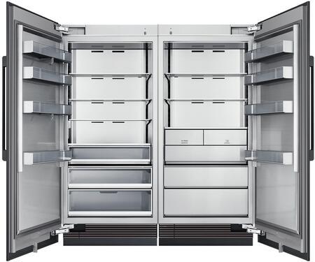 Dacor Contemporary 865462 Column Refrigerator & Freezer Set Panel Ready, 1