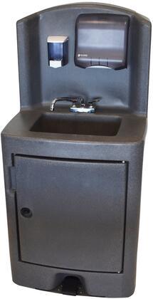 Crown Verity CVPHS5 Commercial Hand Sink Black, CVPHS5E Front View
