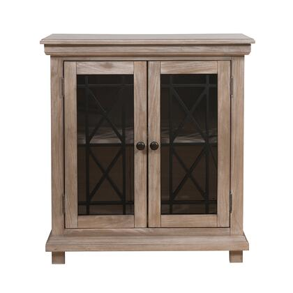 156-DS-D204-061 Two Door Muntin Accent Chest in Oak