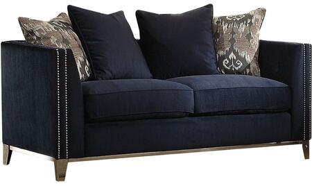 Acme Furniture Phaedra 52831 Loveseat Blue, Main Image