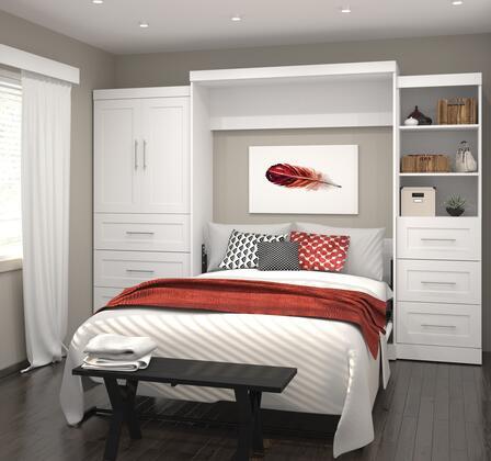 Bestar Furniture Pur Series 2688917 Bed White, Image 1