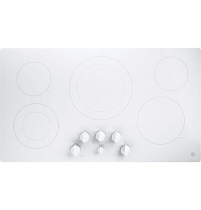 GE  JP3536TJWW Electric Cooktop White, Main View