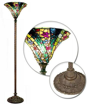 HomeRoots 320096 Floor Lamp Multi Colored, Main Image