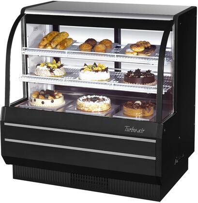 Turbo Air TCGB48BN Display and Merchandising Refrigerator Black, TCGB48BN Angled View