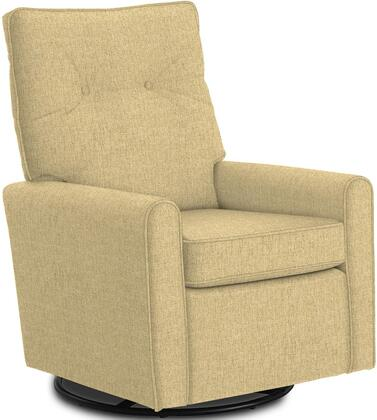 Phylicia Collection 4007-21957 Recliner with 360-Degrees Swivel Glider Metal Base  Removable Back  High Backrest  Zipper Access and Fabric Upholstery