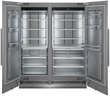 66″ Side-by-Side Column Refrigerator & Freezer Set with MRB3600 36″ Right Hinge Refrigerator and MF305130″ Left Hinge Freezer in Panel