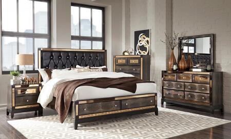 Global Furniture USA Mirror MIRRORCHOCKBSTORAGESET Bedroom Set Brown, Main Image