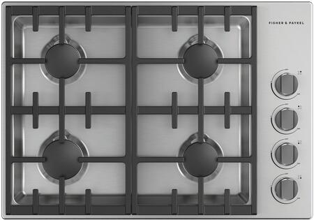 Fisher Paykel Professional CDV3304N Gas Cooktop Silver, CDV3304N Gas Cooktop