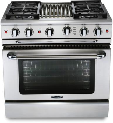 Capital Precision GSCR364GL Freestanding Gas Range Stainless Steel, Main Image