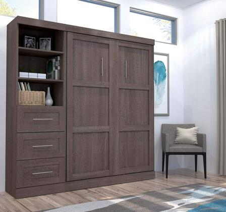 Bestar Furniture 2686847 Bed, bestar pur bark grey 26868 47 room 1