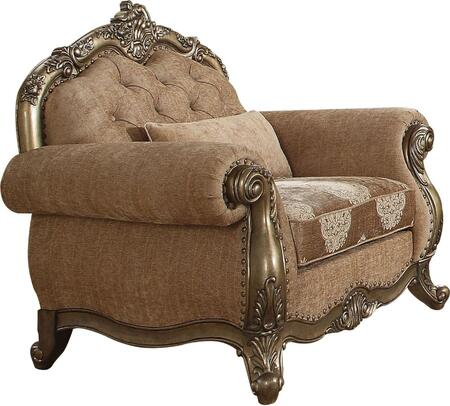 Acme Furniture Ragenardus 56032 Living Room Chair Brown, 1