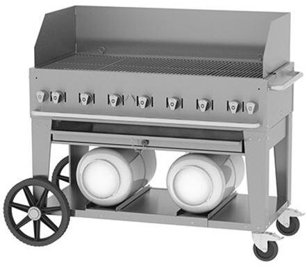 Crown Verity Club CVCCB48WGP Commercial Outdoor Grill Stainless Steel, CVCCB48WGP Side View