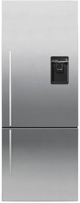Fisher Paykel RF135BDRUX4N Bottom Freezer Refrigerator Stainless Steel, Front view