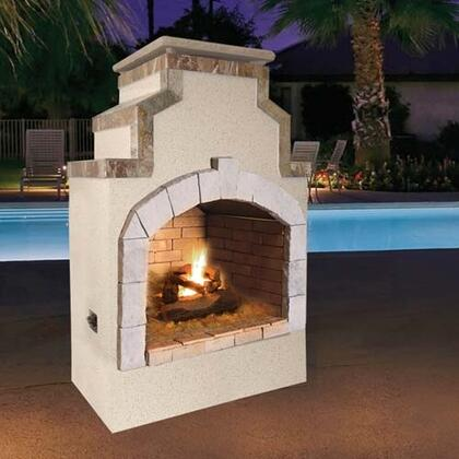 Cal Flame Frp910 1 48 Inch Outdoor Fireplace With 55 000 Btu Fire