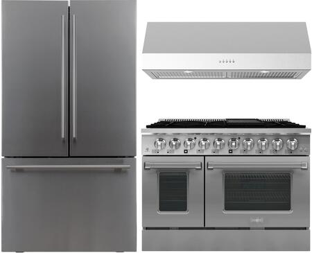 Forte  1458083 Kitchen Appliance Package Stainless Steel, main image