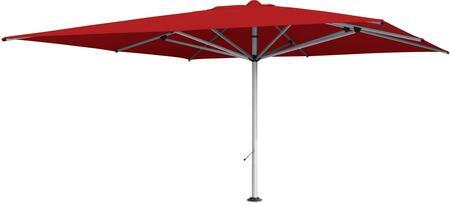 Shadowspec SU10 KITP10SQ40RED Outdoor Umbrella Red, Logo Red