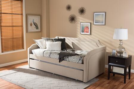 Baxton Studio Parkson PARKSONBEIGEDAYBED Bed Beige, Parkson Beige Daybed 7