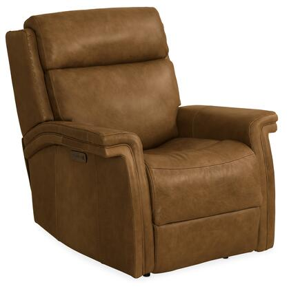Hooker Furniture MS Series SS468PWR088 Recliner Chair Brown, Silo Image