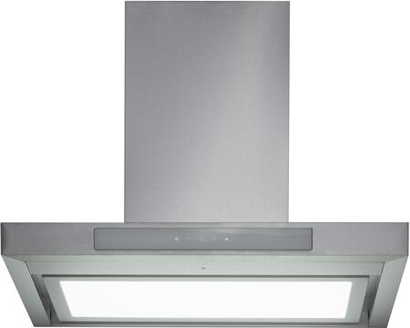 MVW102B36SS 36″ Chimney Style Range Hood with 600 CFM  Perimeter Ventilation  LED Panel Lighting  Heat Sensor  in stainless