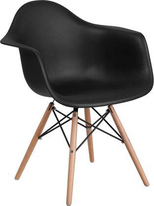 Flash Furniture Alonza FH132DPPBKGG Accent Chair Black, FH 132 DPP BK GG