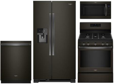 Whirlpool  929718 Kitchen Appliance Package Black Stainless Steel, main image