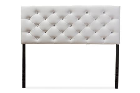 Baxton Studio Viviana BBT6506WHITEFULLHB Headboard White, BBT 6506 White 1