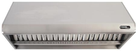 RH4801 48″ Professional Style Wall Mount Range Hood with 1200 CFM  Stainless Steel Baffle Filters  4 Speeds and Halogen Lighting in Stainless