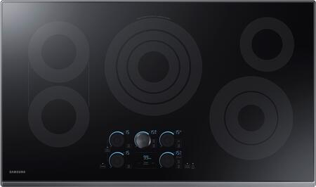 "Samsung NZ36K7570RG 36"" Black Stainless Steel Electric Cooktop with Sync Elements"