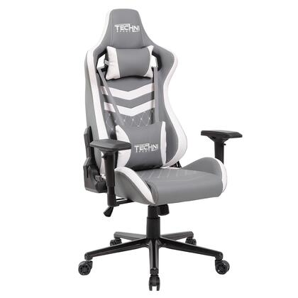 RTA-TS83-GRY-WHT TS-83 Ergonomic High Back Racer Style PC Gaming Chair  in