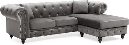 Glory Furniture Nola G0350BSC Sectional Sofa Gray, G0350BSC Main Image