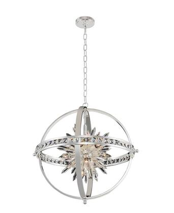Angelo 033651-014-FR001 26″ Pendant in Polished Silver Finish with Firenze
