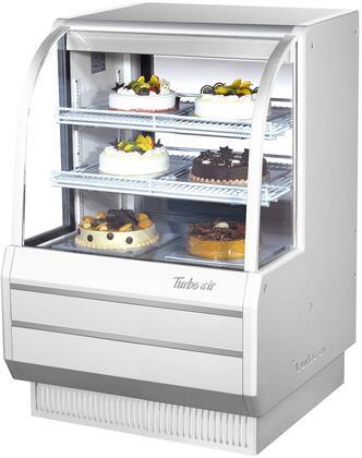 Turbo Air TCGB36WN Display and Merchandising Refrigerator White, TCGB36WN Angled View