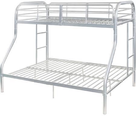 Acme Furniture Tritan 02043SI Bed Silver, 1