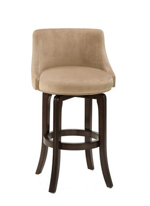 4294-832I Napa Valley 40 Swivel Bar Stool with Wood Frame and Textured Khaki Fabric in Dark Brown