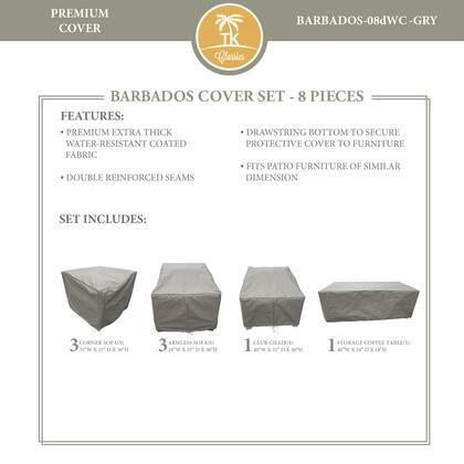 BARBADOS-08dWC-GRY Protective Cover Set  for BARBADOS-08d in