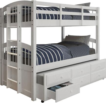 Acme Furniture Micah 39995 Bed White, Angled View