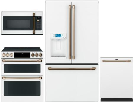 Cafe  1053663 Kitchen Appliance Package Matte White, main image