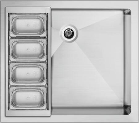 DCS  BC25 Outdoor Sink Stainless Steel, Shown with Trays