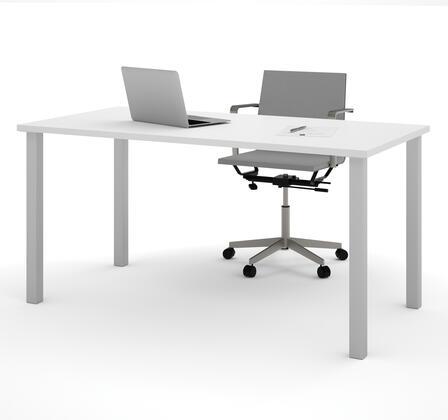 Bestar Furniture BESTAR 6586517 Office Desk White, Main View