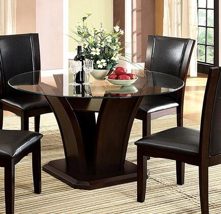 Furniture of America Manhattan I CM3710RTTABLE Dining Room Table Brown, Without Chairs