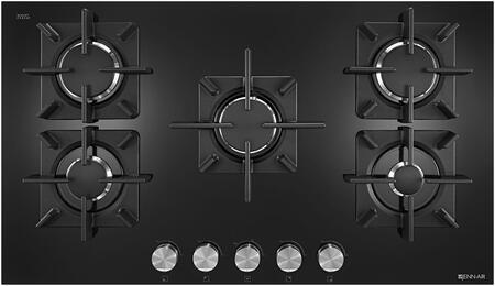 "Jenn-Air JGC2530EB Gas Cooktop Black, JGC2530EB Black Floating Glass 30"" 5-Burner Gas CookTop"