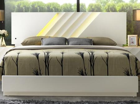 Cosmos Furniture Bianca BIANCAQUEENBED Bed White, Main Image