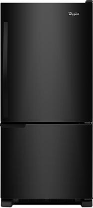 Whirlpool  WRB119WFBB Bottom Freezer Refrigerator Black, 1