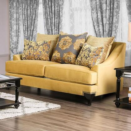 Furniture of America Viscontti SM2201LV Loveseat Gold, Main Image
