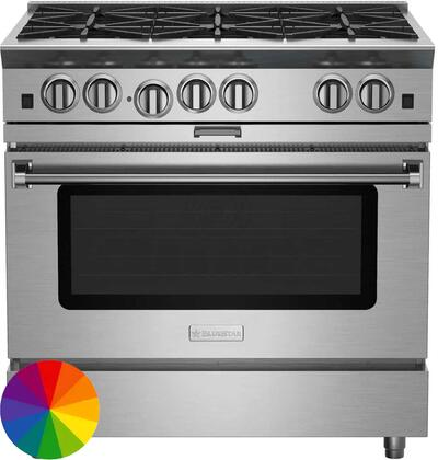 "BlueStar Platinum BSP366BLCPLT Freestanding Gas Range Custom Color, 36"" Platinum Series Range"