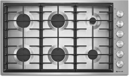 Jenn-Air JGC7636BS Gas Cooktop Stainless Steel, JGC7636BS 36-Inch 6-Burner Gas Cooktop